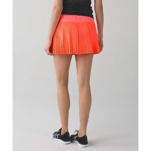 Lulu Pleat To Street Skirt Grapefruit Coral Skort